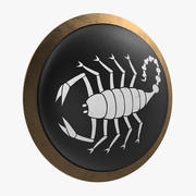 Greek Scorpion Shield 3D Model 3d model
