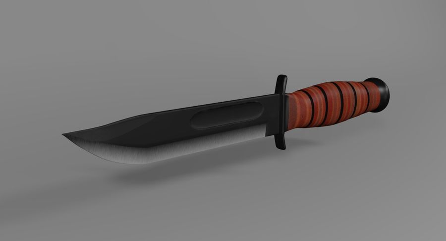 Assault Knife royalty-free 3d model - Preview no. 5