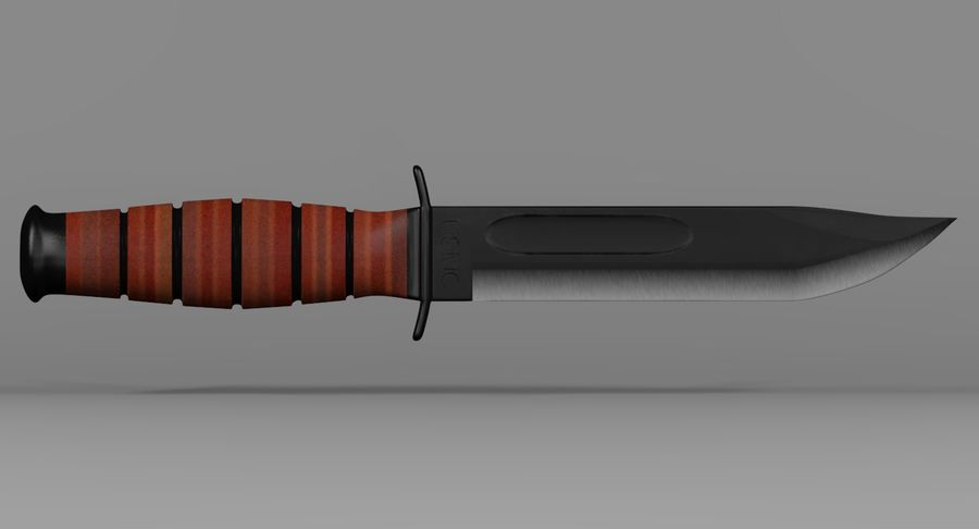 Assault Knife royalty-free 3d model - Preview no. 3