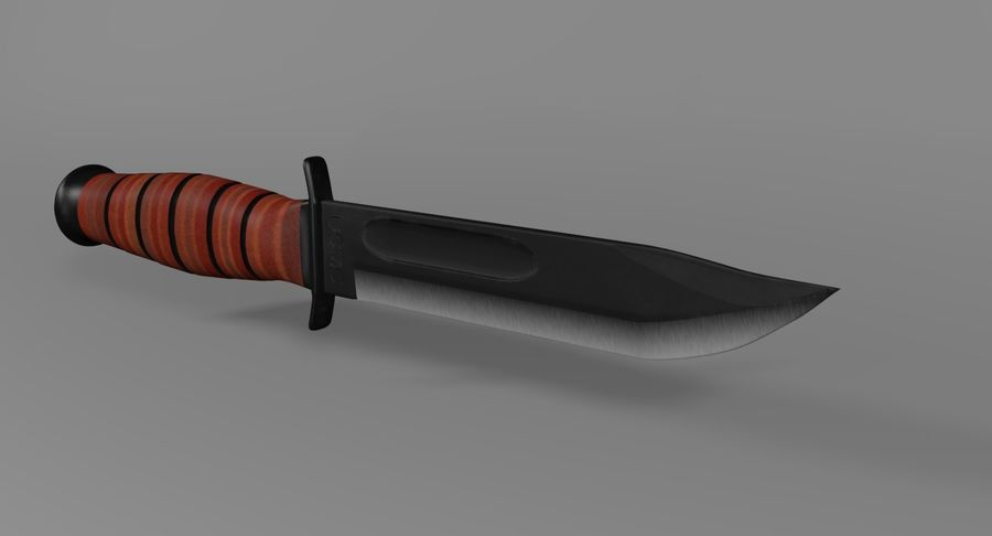 Assault Knife royalty-free 3d model - Preview no. 4