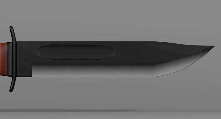 Assault Knife royalty-free 3d model - Preview no. 8