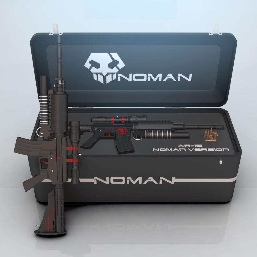AR-15 royalty-free 3d model - Preview no. 1