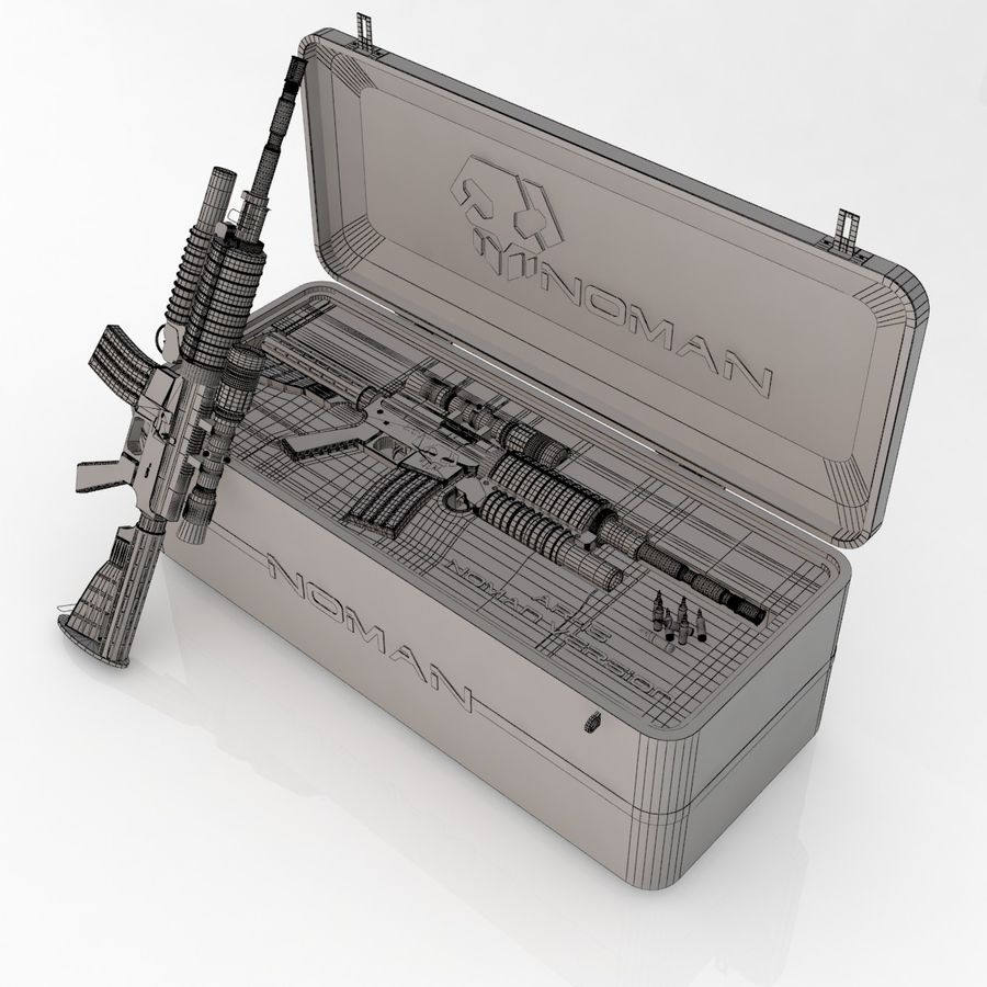 AR-15 royalty-free 3d model - Preview no. 8