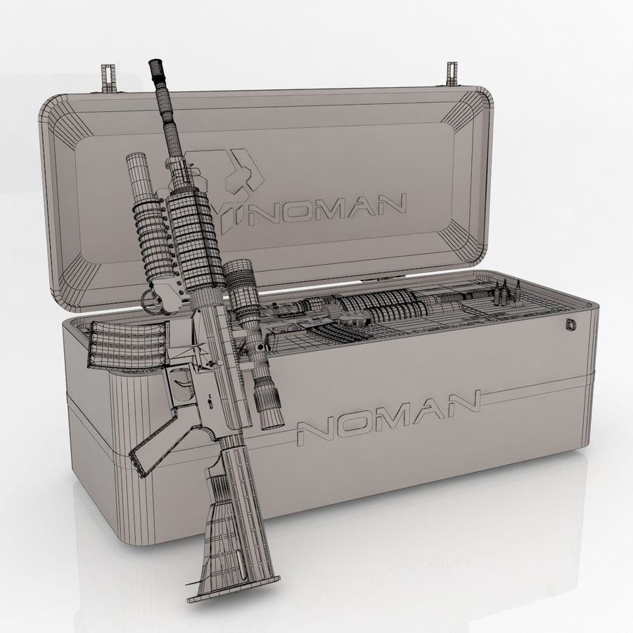 AR-15 royalty-free 3d model - Preview no. 7