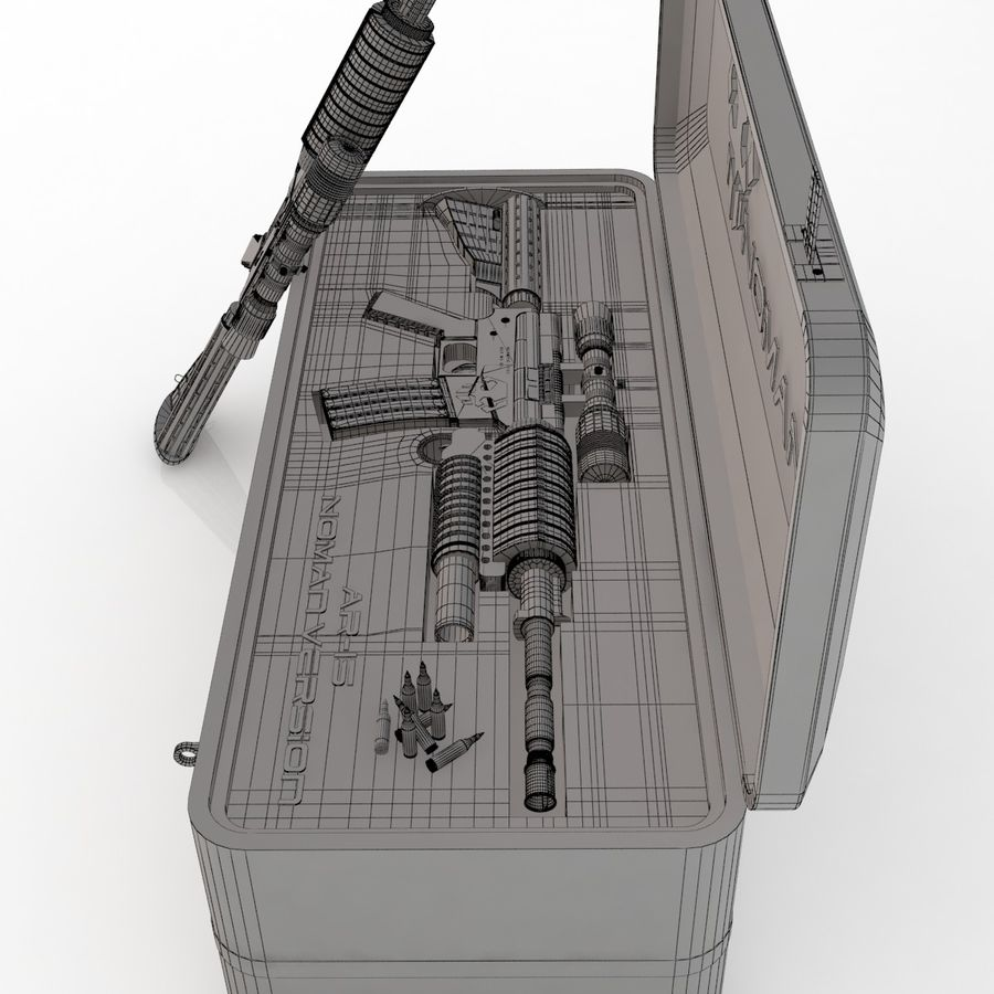 AR-15 royalty-free 3d model - Preview no. 9