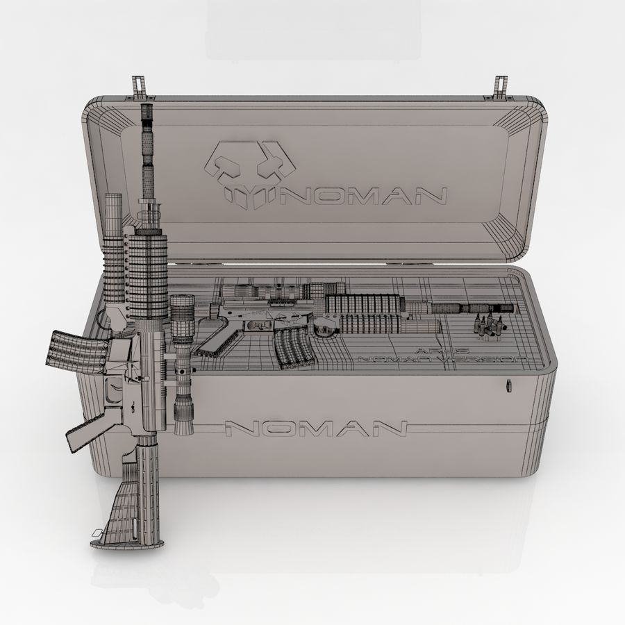 AR-15 royalty-free 3d model - Preview no. 6