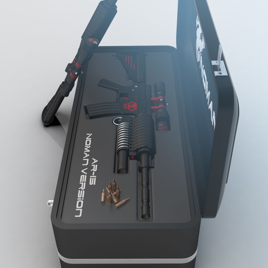AR-15 royalty-free 3d model - Preview no. 4