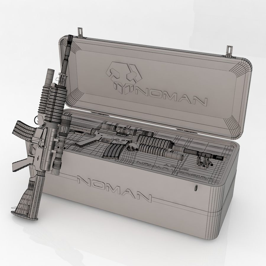 AR-15 royalty-free 3d model - Preview no. 10
