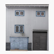 Building Facade Wood 3d model