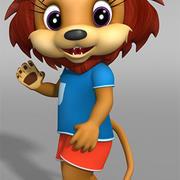 lion dessiné 3d model