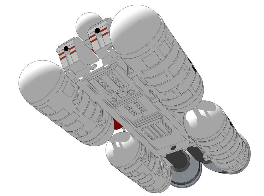 Booster royalty-free 3d model - Preview no. 5