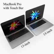 MacBook Pro Touch Bar de 13 y 15 pulgadas modelo 3d