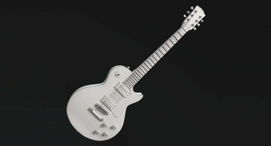 Electric Guitar royalty-free 3d model - Preview no. 15