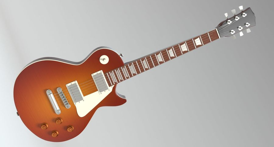 Electric Guitar royalty-free 3d model - Preview no. 4