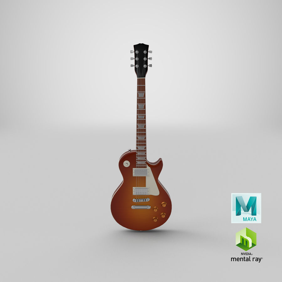 Electric Guitar royalty-free 3d model - Preview no. 21
