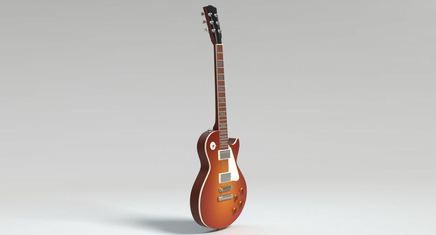 Electric Guitar royalty-free 3d model - Preview no. 8