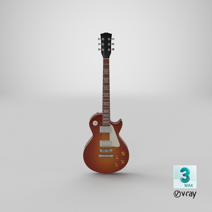 Electric Guitar royalty-free 3d model - Preview no. 22