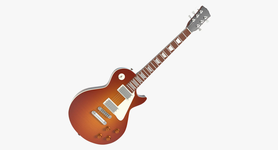 Guitare électrique royalty-free 3d model - Preview no. 2