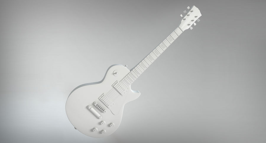 Electric Guitar royalty-free 3d model - Preview no. 13