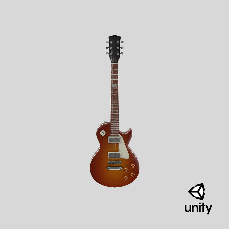 Electric Guitar royalty-free 3d model - Preview no. 26