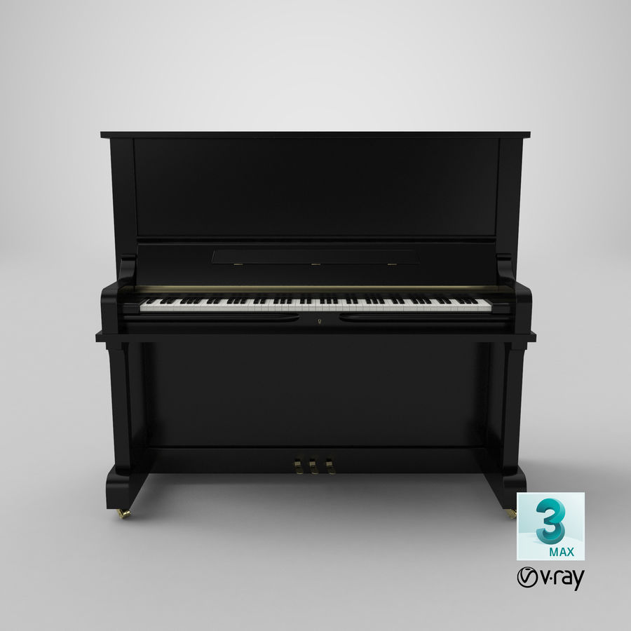 Piano royalty-free 3d model - Preview no. 17