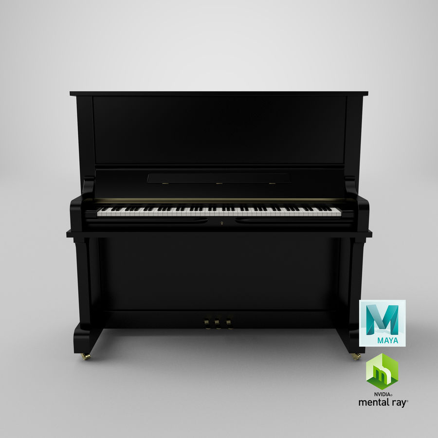 Piano royalty-free 3d model - Preview no. 16