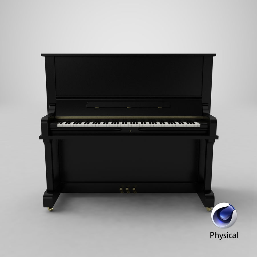 Piano royalty-free 3d model - Preview no. 19
