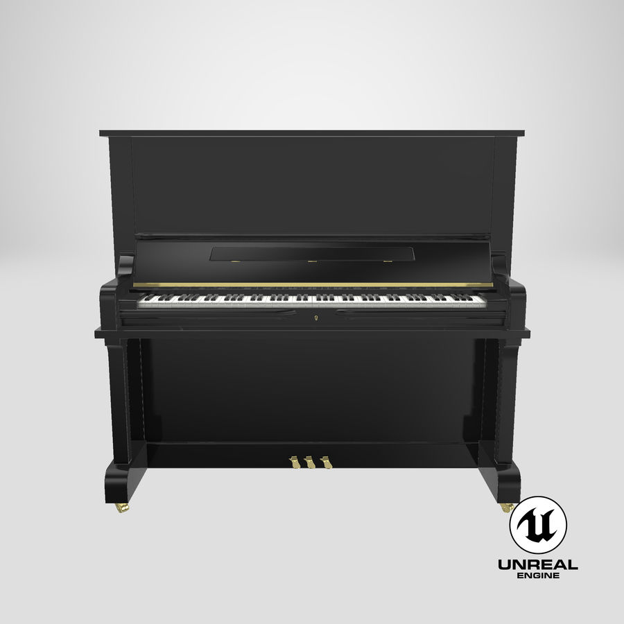 Piano royalty-free 3d model - Preview no. 20