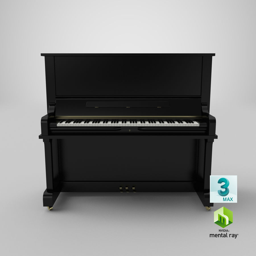 Piano royalty-free 3d model - Preview no. 18