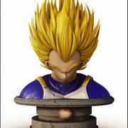 Busto Vegeta. esfera del dragón modelo 3d