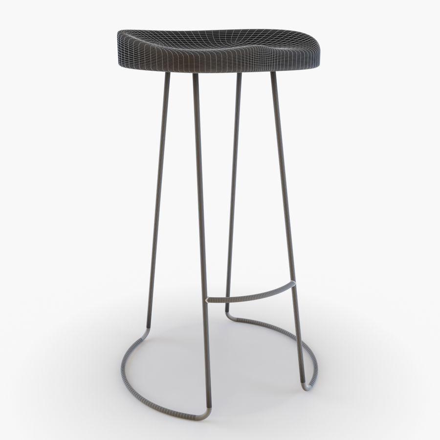 Przemysłowy stołek barowy royalty-free 3d model - Preview no. 6