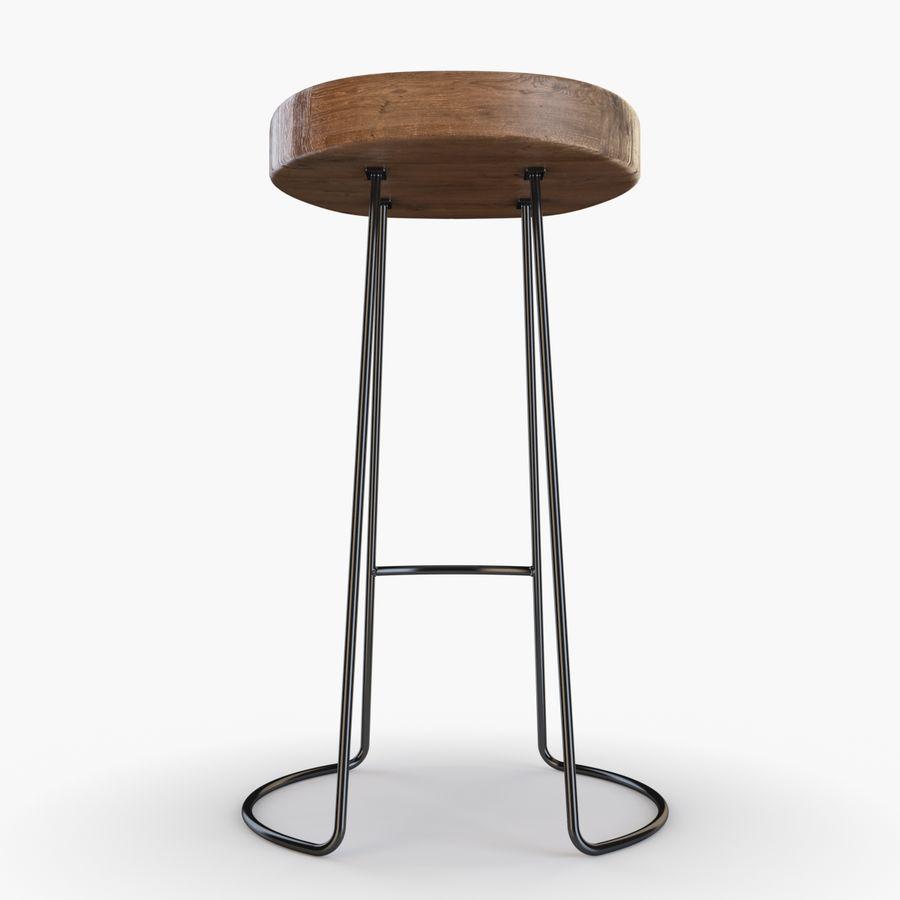 Przemysłowy stołek barowy royalty-free 3d model - Preview no. 3