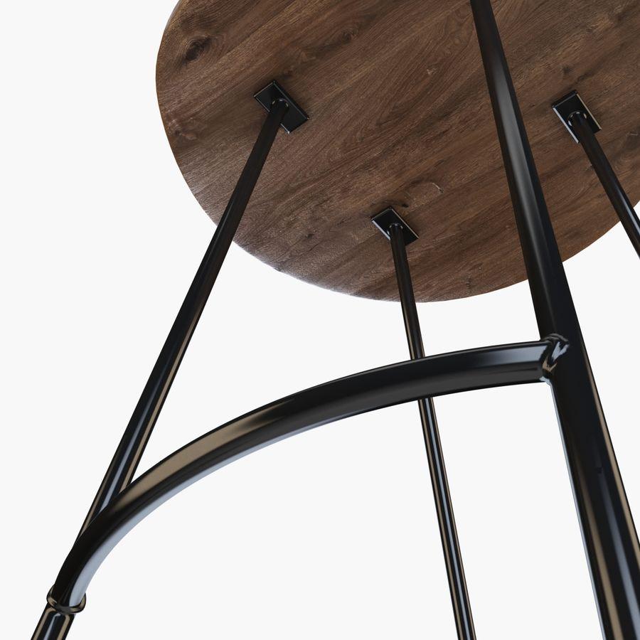Przemysłowy stołek barowy royalty-free 3d model - Preview no. 5