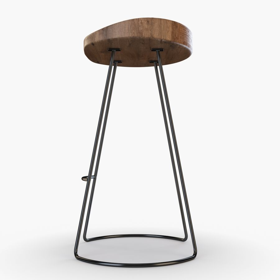 Przemysłowy stołek barowy royalty-free 3d model - Preview no. 2