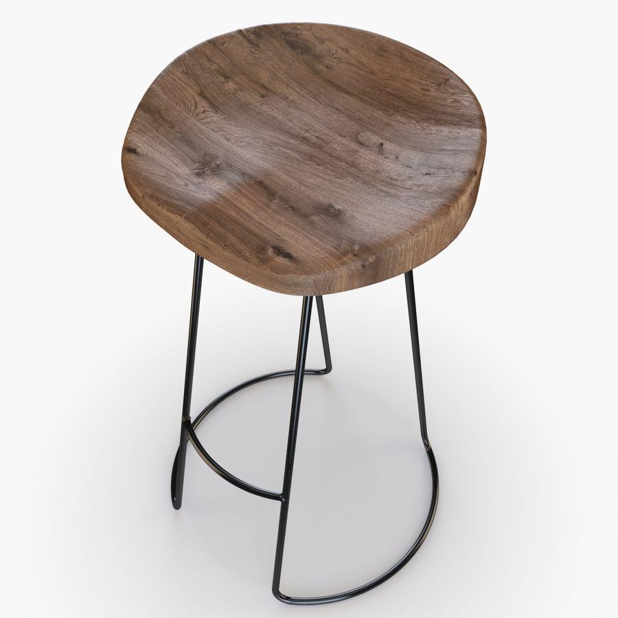Przemysłowy stołek barowy royalty-free 3d model - Preview no. 4