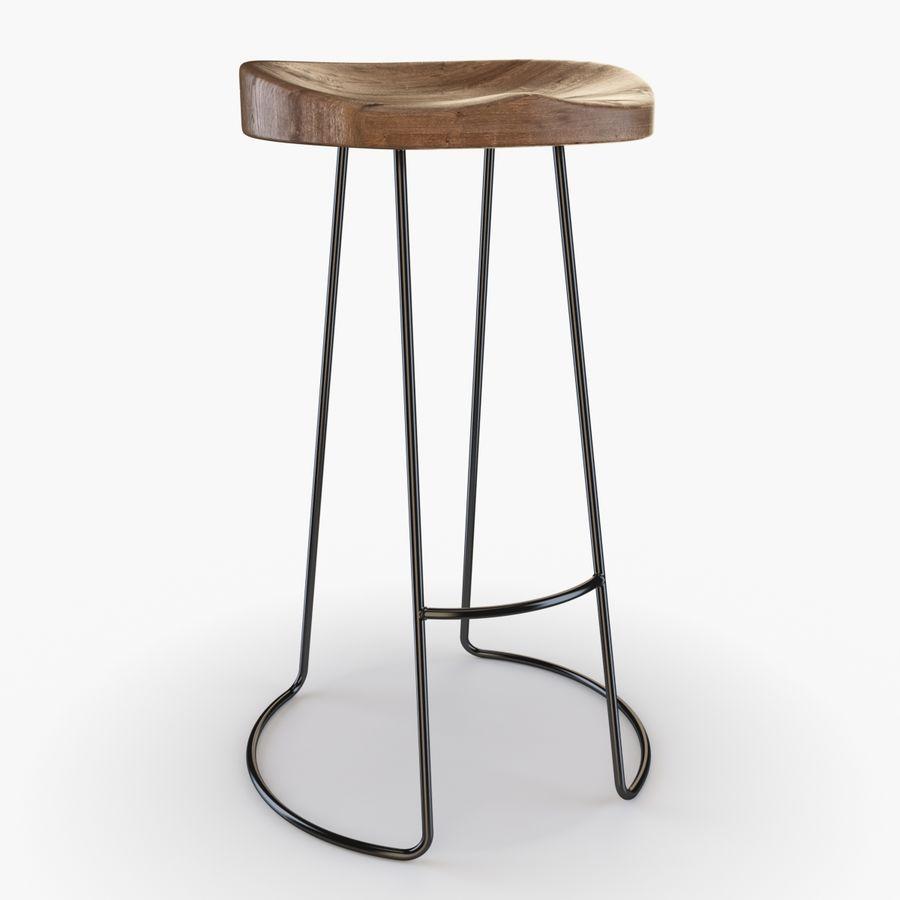 Przemysłowy stołek barowy royalty-free 3d model - Preview no. 1