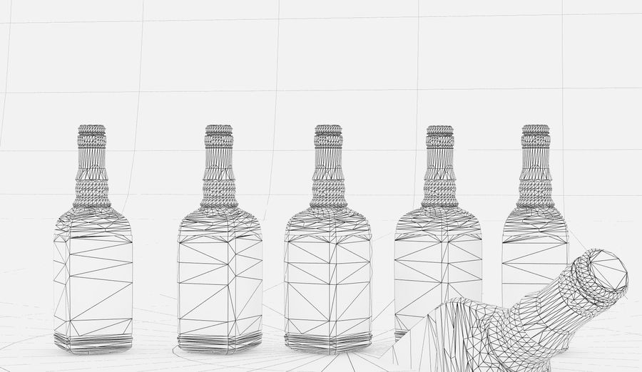 Alcohol Bottle royalty-free 3d model - Preview no. 18