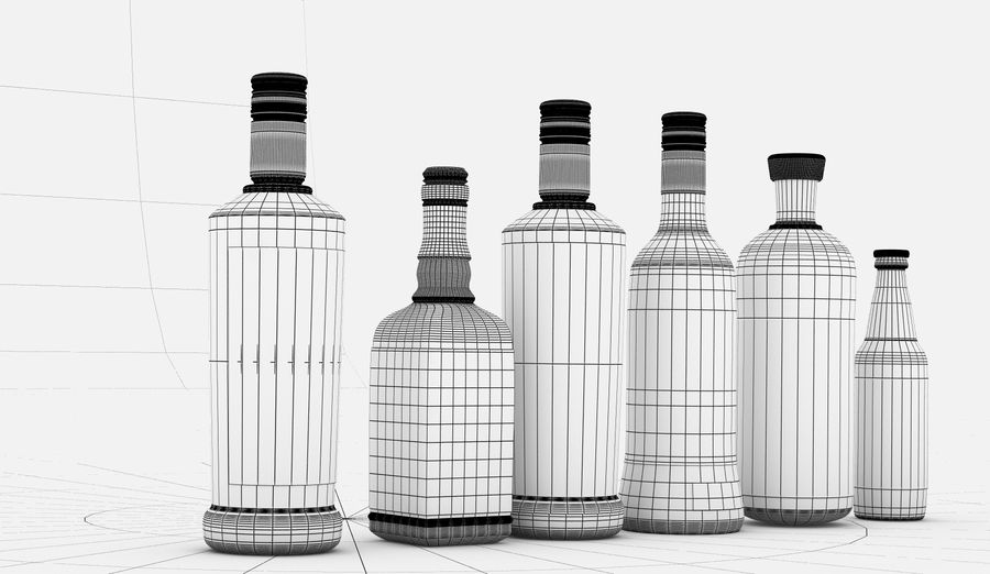 Alcohol Bottle royalty-free 3d model - Preview no. 16