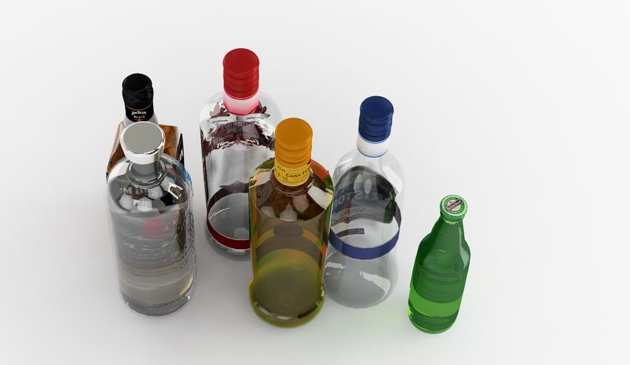Alcohol Bottle royalty-free 3d model - Preview no. 5