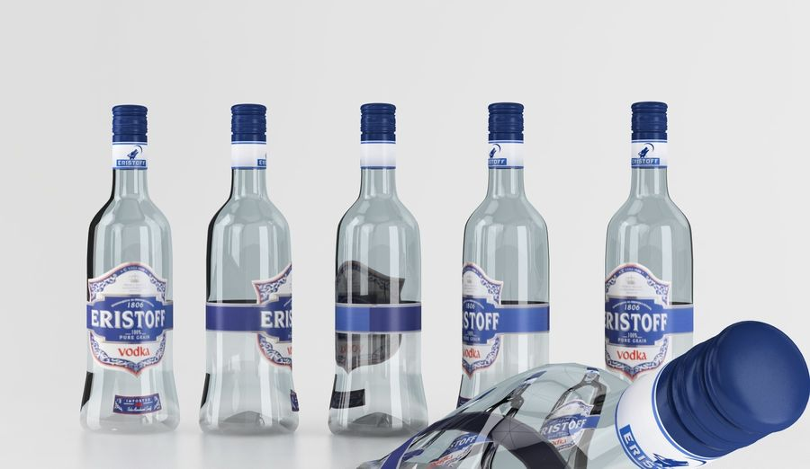 Alcohol Bottle royalty-free 3d model - Preview no. 11
