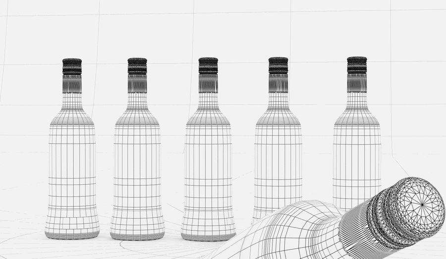 Alcohol Bottle royalty-free 3d model - Preview no. 12