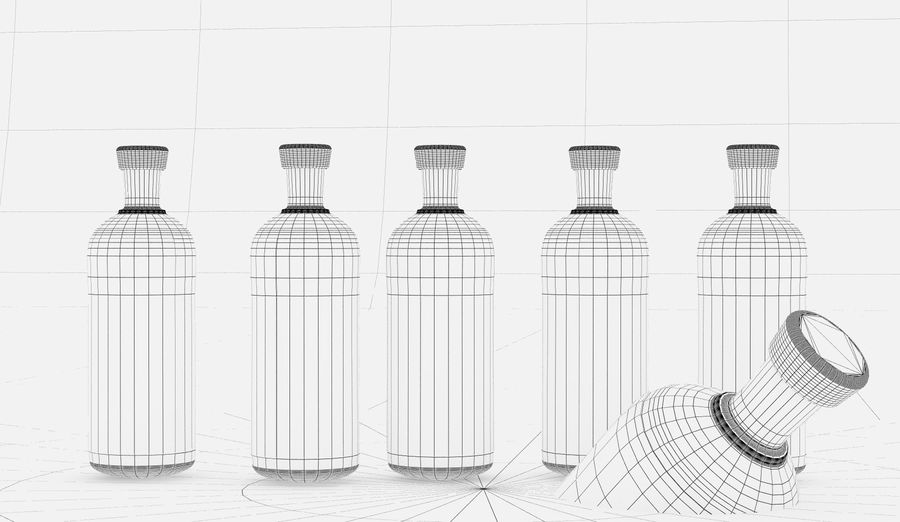 Alcohol Bottle royalty-free 3d model - Preview no. 8