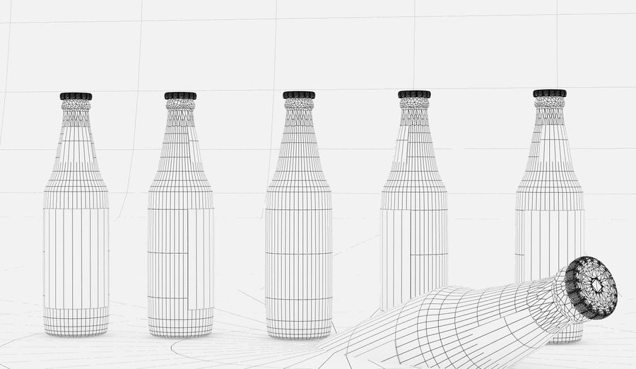 Alcohol Bottle royalty-free 3d model - Preview no. 14