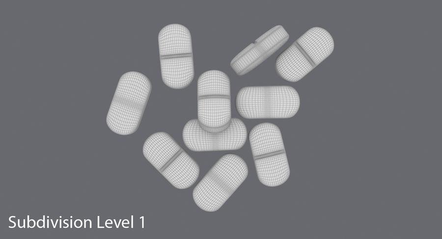 Long Pills royalty-free 3d model - Preview no. 16