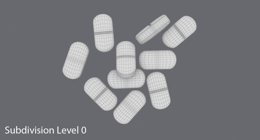 Long Pills royalty-free 3d model - Preview no. 13