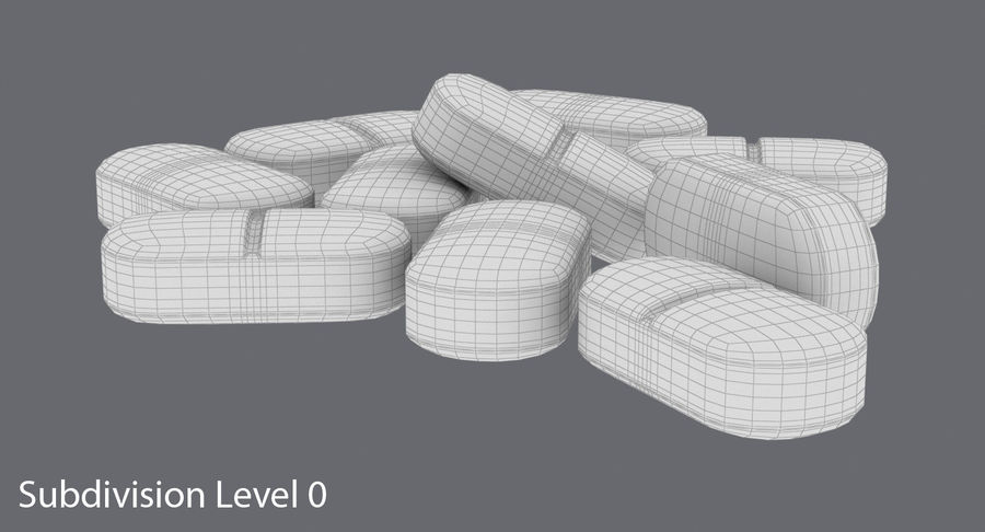 Long Pills royalty-free 3d model - Preview no. 12