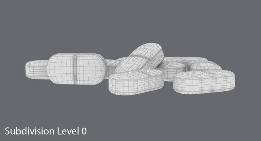 Long Pills royalty-free 3d model - Preview no. 14