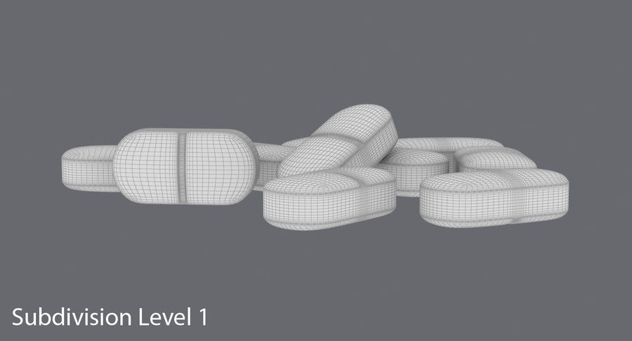 Long Pills royalty-free 3d model - Preview no. 17