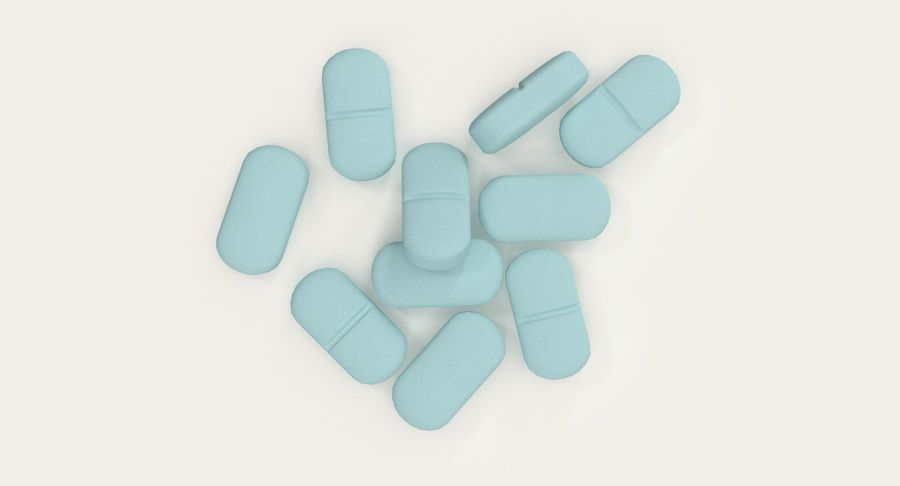 Long Pills royalty-free 3d model - Preview no. 5