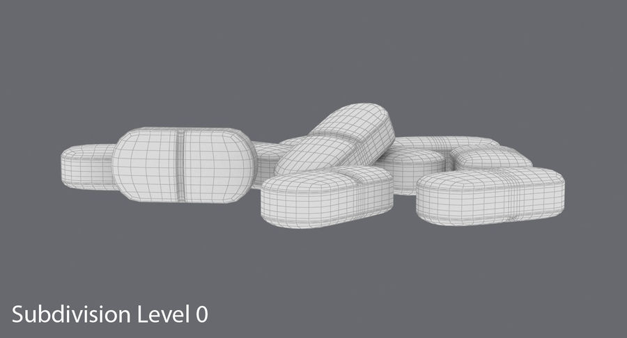 Long Pills royalty-free 3d model - Preview no. 14